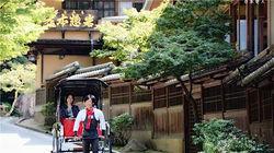 休闲的京都岚山