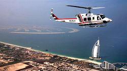 乘直升机俯瞰迪拜