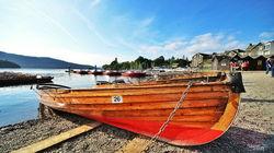 温德米尔湖区的木筏