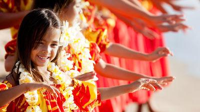 夏威夷草裙舞女孩