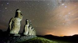 星空 石像