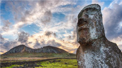 复活节岛 莫埃石像