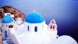 浪漫唯美的蓝顶教堂