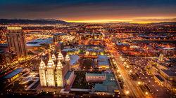 盐湖城璀璨夜景