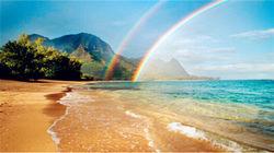 在夏威夷遇见醉美彩虹