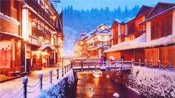 冬季温泉街
