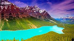 落基山中最特别的冰河湖—佩投湖