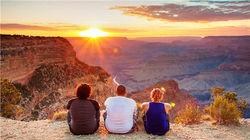 大峡谷完美日落