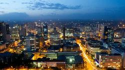 肯尼亚首都内罗毕夜景