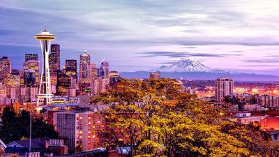 西雅图标志性建筑-太空针塔