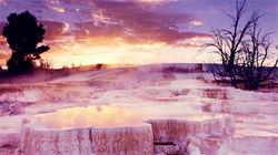 黄石国家公园-猛犸热泉