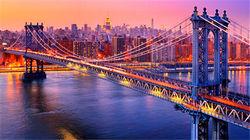 远眺纽约璀璨夜景
