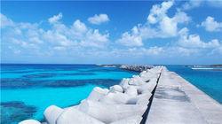 冲绳清澈的海水