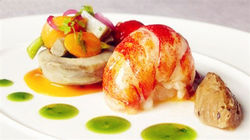 米其林获奖餐厅Santé 精美菜肴