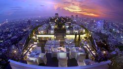 曼谷悦榕庄Vertigo餐厅夜景