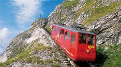 世界上最陡峭且倾斜率最大的齿轨火车登山轨道
