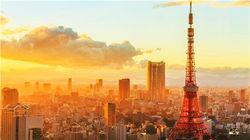 夕阳下的东京塔
