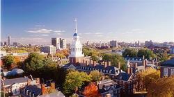 俯瞰优美的哈佛大学