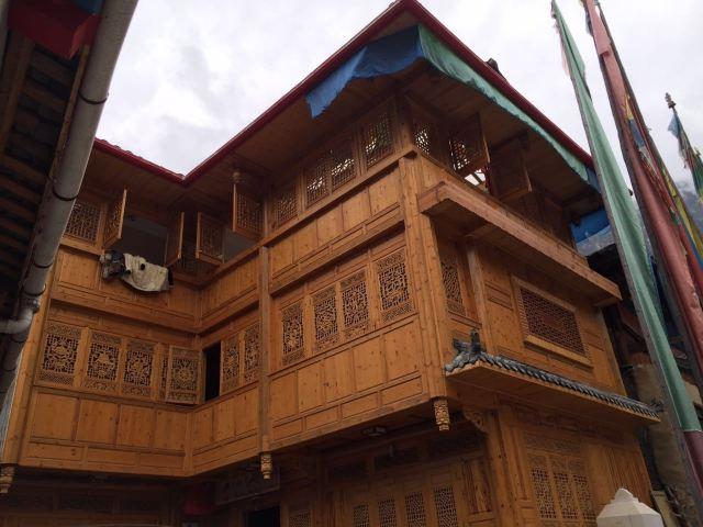 藏式木屋结构图
