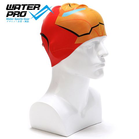water pro 超舒适大人/儿童 硅胶泳帽 irony man 钢铁侠款