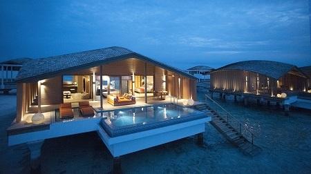马尔代夫翡诺岛6日4晚半自助游·2沙滩别墅2水上别墅
