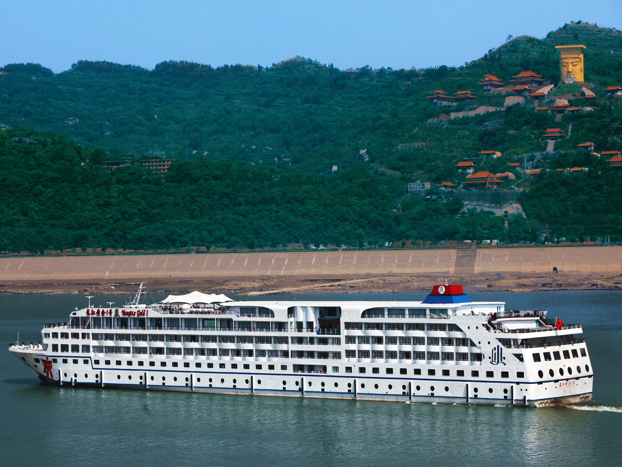 重庆 宜昌4日跟团游·三峡涉外系列游船每个房间都有独立阳台