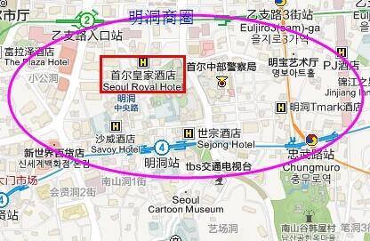 首尔旅游景点地图