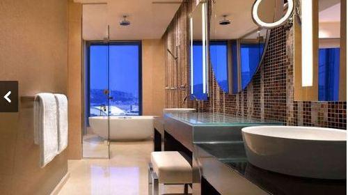 欧式卫生间蓝色瓷砖装修效果图