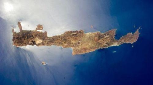 克里特岛俯视图