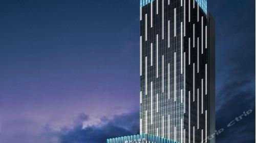 酒店外观设计简洁,现代,内部装修以现代与新中式元素相融合,处处彰显