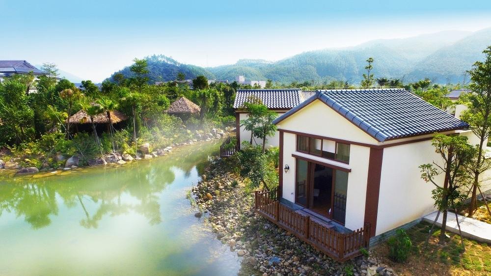 海丰水底山温泉庄园1晚 根据礼盒赠送双人温泉浸泡,广东最大的温泉池