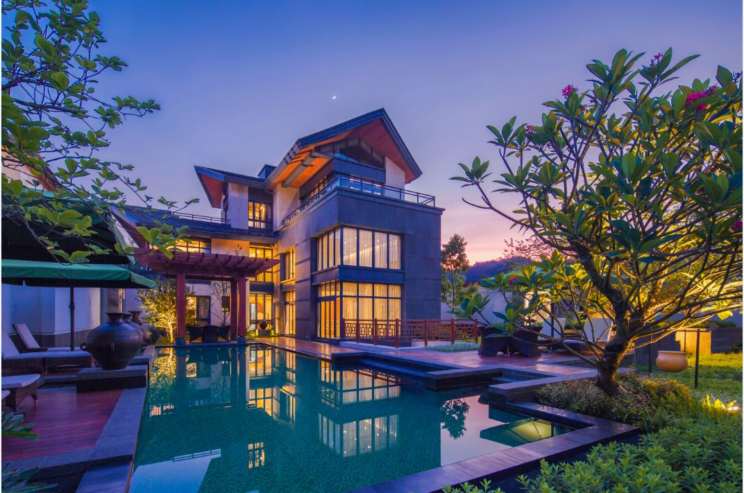 新亚洲建筑_有别于中式大宅的沉稳内敛,新亚洲风格的现代简约建筑更为追求原生态
