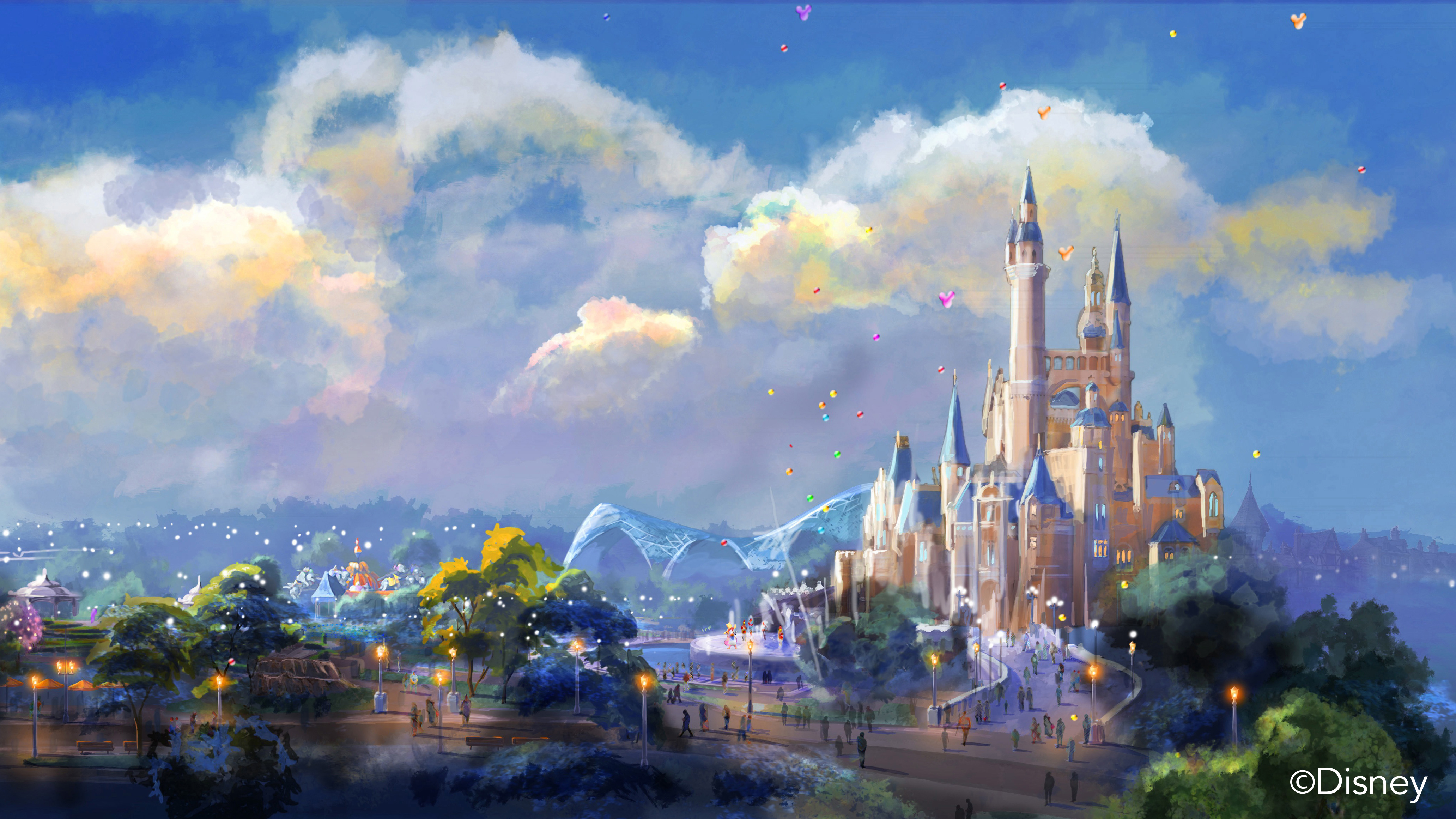 童话手绘小镇设计