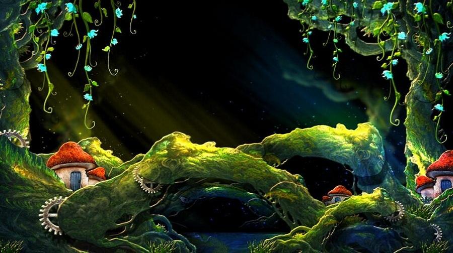 梦幻的仙境森林,奇怪的动物