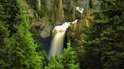 黄石国家公园-塔瀑