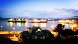 乌斯怀亚 码头夜景