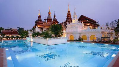 清迈黛兰塔维度假酒店 殖民地风格泳池