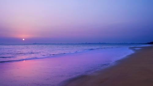 三亚海滩风景房高清图片