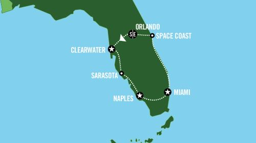 迈阿密+奥兰多8日7晚半自助游·醉美佛罗里达