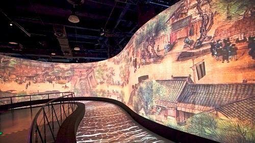 清明上河图——图片来自@上海世博会博物馆 官方微博