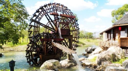 宁海水车风景图