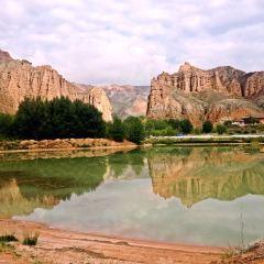 구이더 국립지질공원 아선공 칠채봉총 관광단지 여행 사진