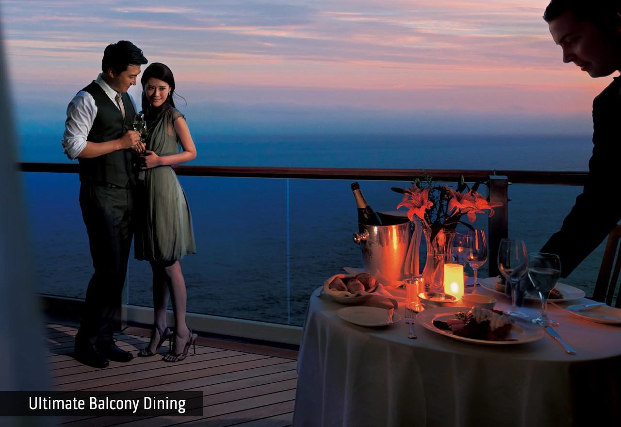 极致海景阳台用餐