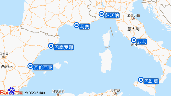 翡翠号航线图