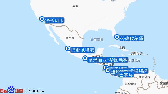 海岛公主号航线图