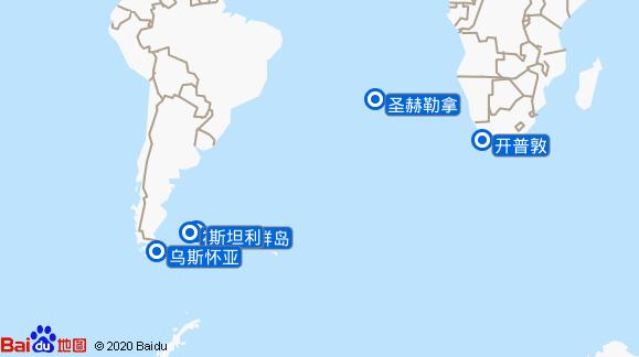 水晶奋进号航线图