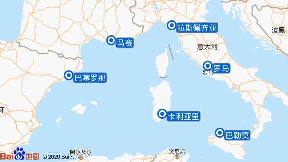 太平洋号航线图