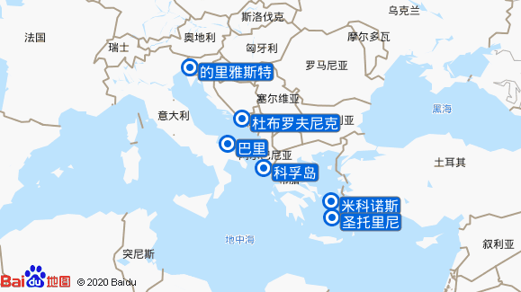 炫目号航线图