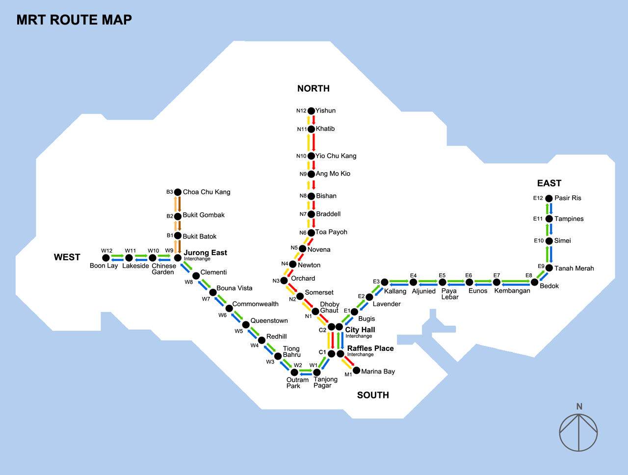 MRT map Singapore 2021