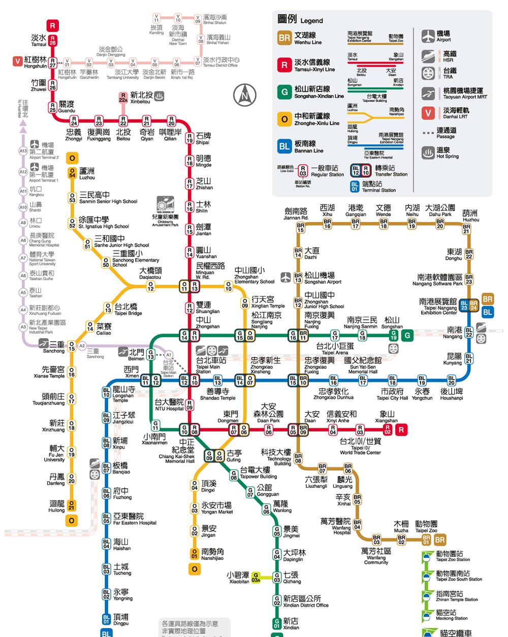 2021最新台北捷運路線圖時間